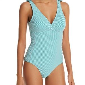 Lauren Ralph Lauren  Striped 1 Piece Swimsuit